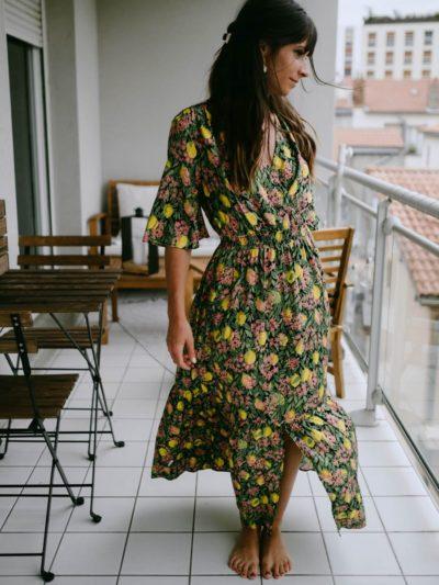 Robe longue VIDA Citron