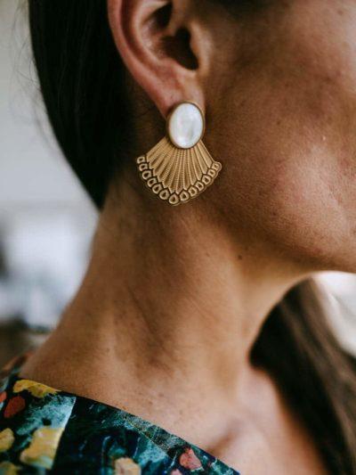 Boucles d'oreilles IMPERIALES Nacre