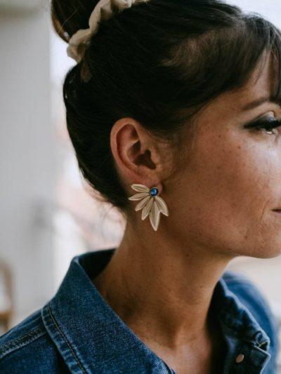 Boucles d'oreilles LOLA Bleues