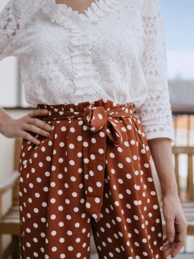 Pantalon POIS Brique