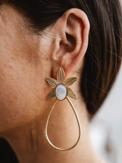 Boucles d'oreilles KENZA blanches