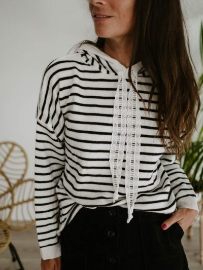Pull BRODERIE Marinière
