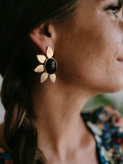 Boucles d'oreilles MUSE Noires