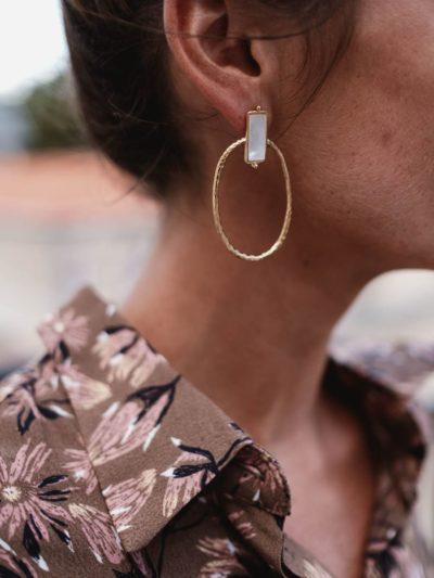 Boucles d'oreilles KATIA Blanche