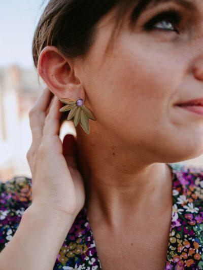 Boucles d'oreilles LOLA Lilas