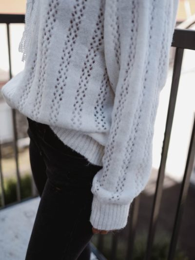 Pull BRODERIE Blanc