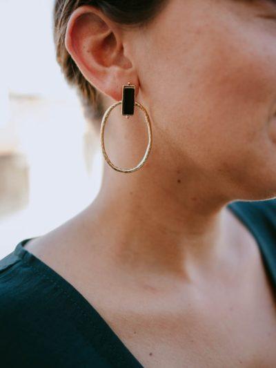 Boucles d'oreilles KATIA Noires