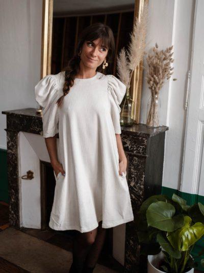 Robe VELOURS Blanc