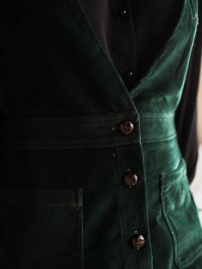 Robe à bretelles JAMES Vert sapin