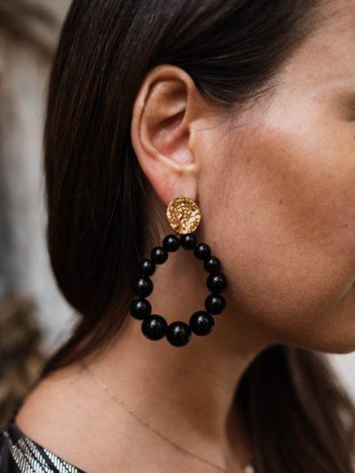 Boucles d'oreille PERLE Noires