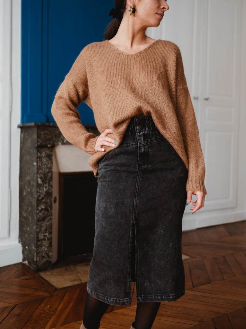 vila-jupe-coton-jean-gris