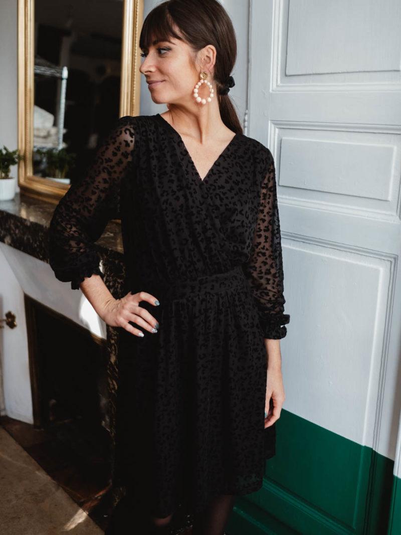Robe Ycoo noire et velours