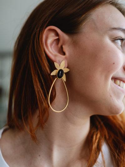Boucles d'oreilles KENZA Noires