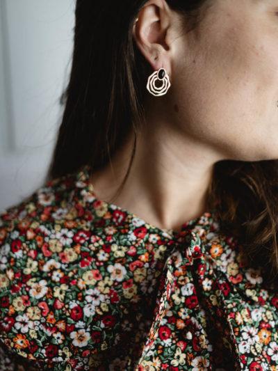 Boucles d'oreilles SPIRALE Noire