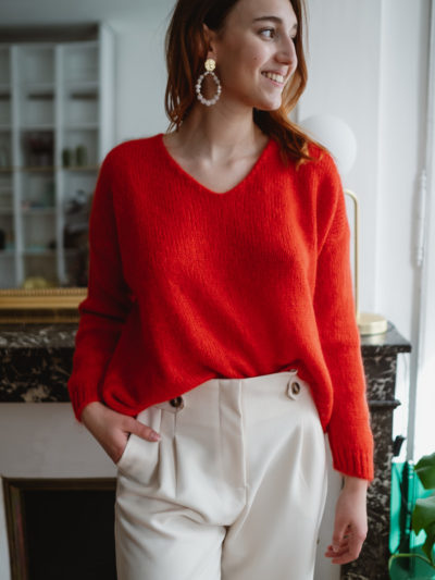 Pull GUSTAVE Rouge