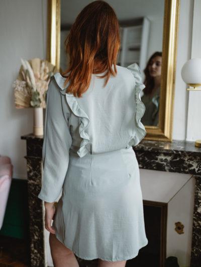 Robe BERTHIE Vert