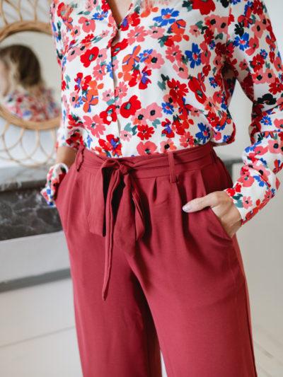 Pantalon PABLO Framboise