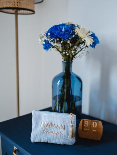 Pochette Maman d'amour bleu