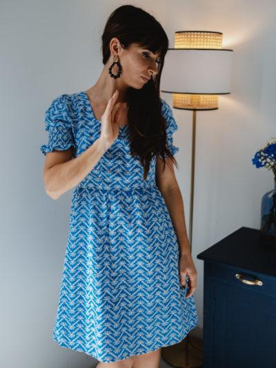 Robe PAULINE bleu
