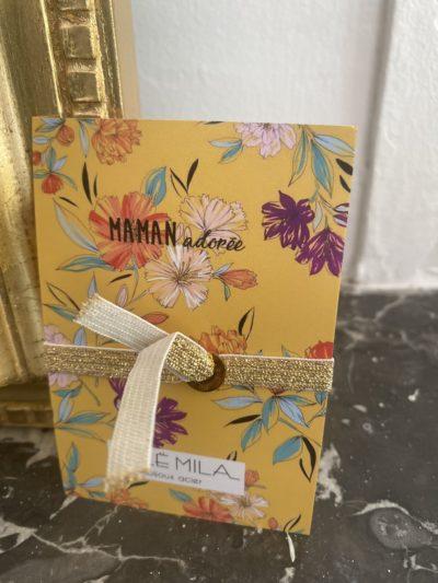 Bracelet MAMAN ADORÉE jaune