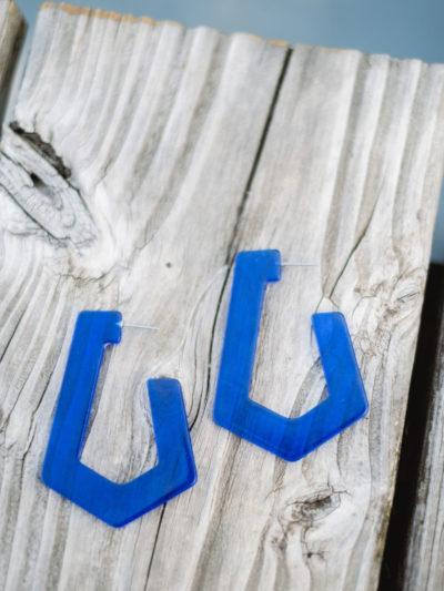 Boucles PLEXI Bleu