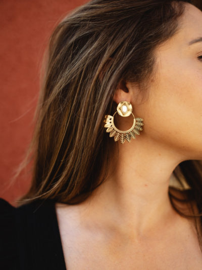 Boucles INDIA blanche