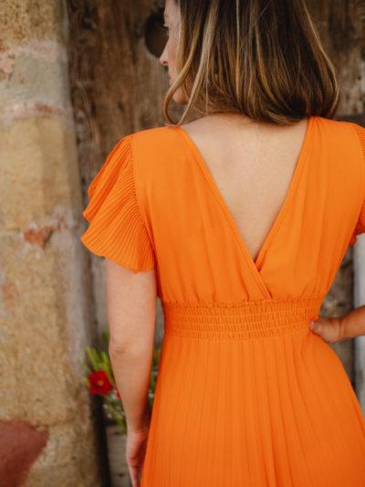 Robe ÉLINA Orange