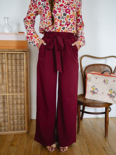 Pantalon PABLO bordeaux